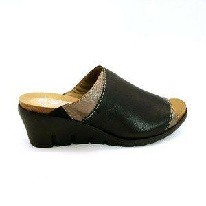 Fly London Mous/Idra Wedge Heel Slide Sandal New